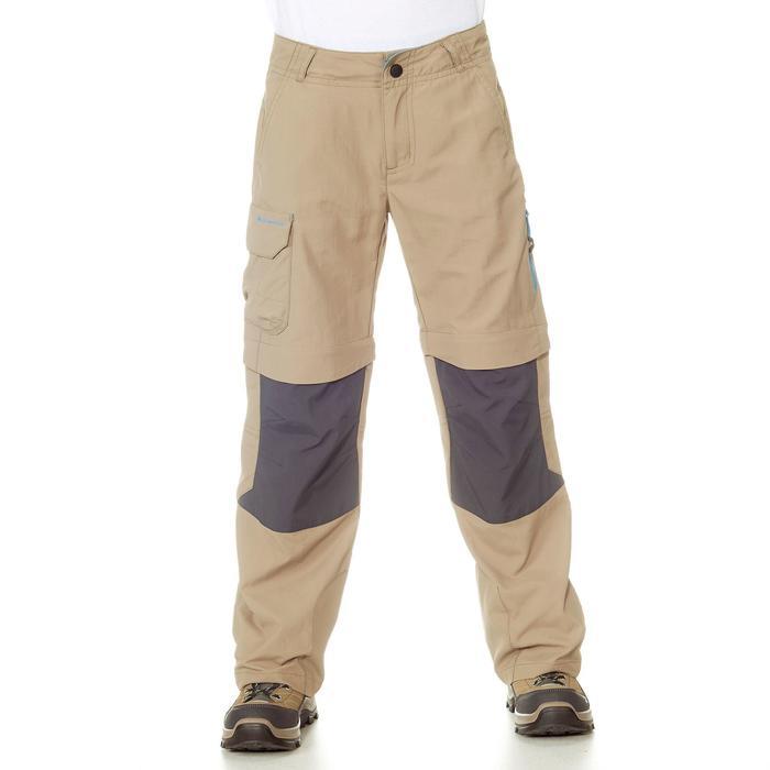 Pantalón transformable de senderismo júnior MH550 beige