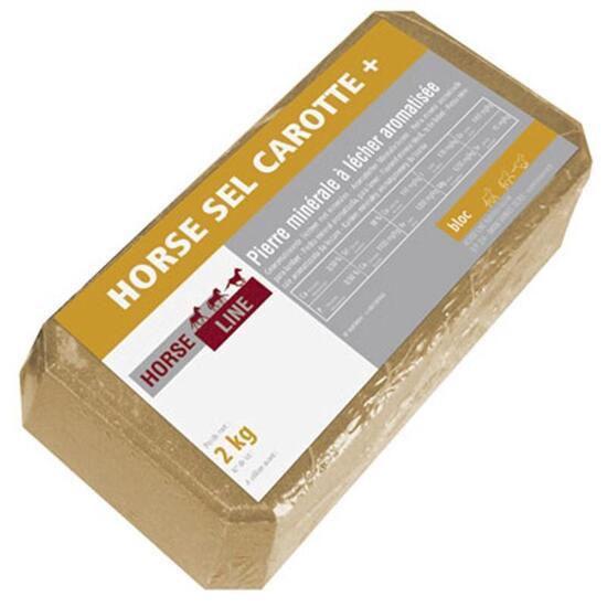 Zoutblok voor paarden en pony's Horse Roc wortel 2 kg - 866497