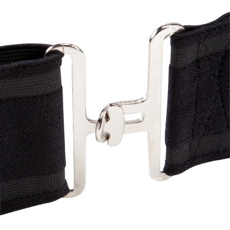 Elastic Horse Riding Surcingle for Horse and Pony - Black