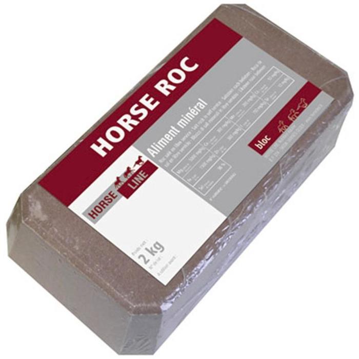 Bloque de sal equitación caballo y poni HORSE ROC con oligoelementos - 2 kg