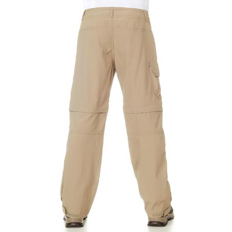 MH550 Children's Convertible Hiking Trousers - Beige