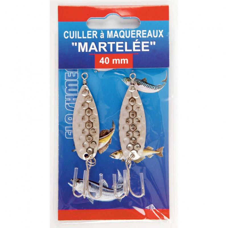 Hammer finish mackerel spoon saltwater fishing