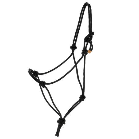 Whisperer Horse Riding Ethological Halter & Rope Set For Horse/Pony - Black