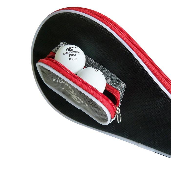 Tischtennis Schlägerhülle Safe grau/rot