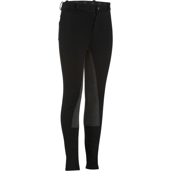 Pantalon équitation enfant FULLSEAT noir et - 872404