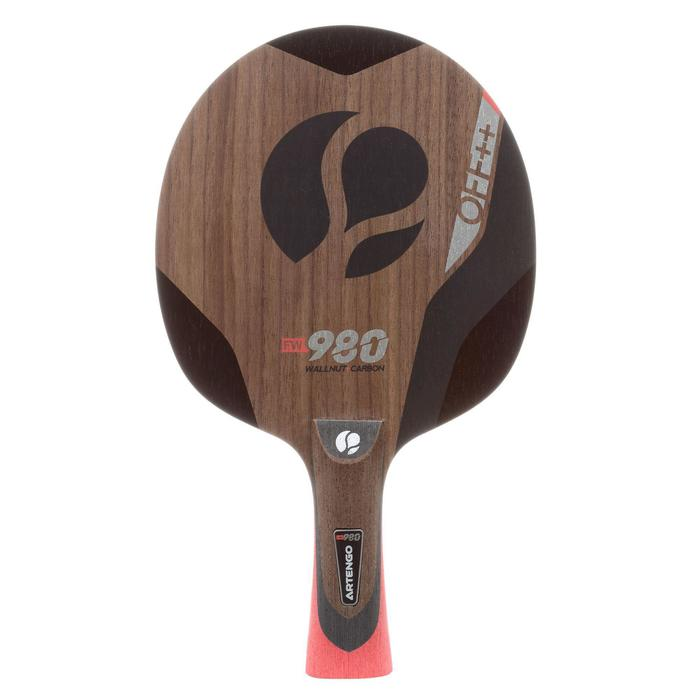 Tafeltennis houtje FW980 Walnut Carbon OFF++ kastanjebruin