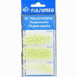 MONTAGE LIGNE MER PERLES PHOSPHO 3/5/6 MM X100