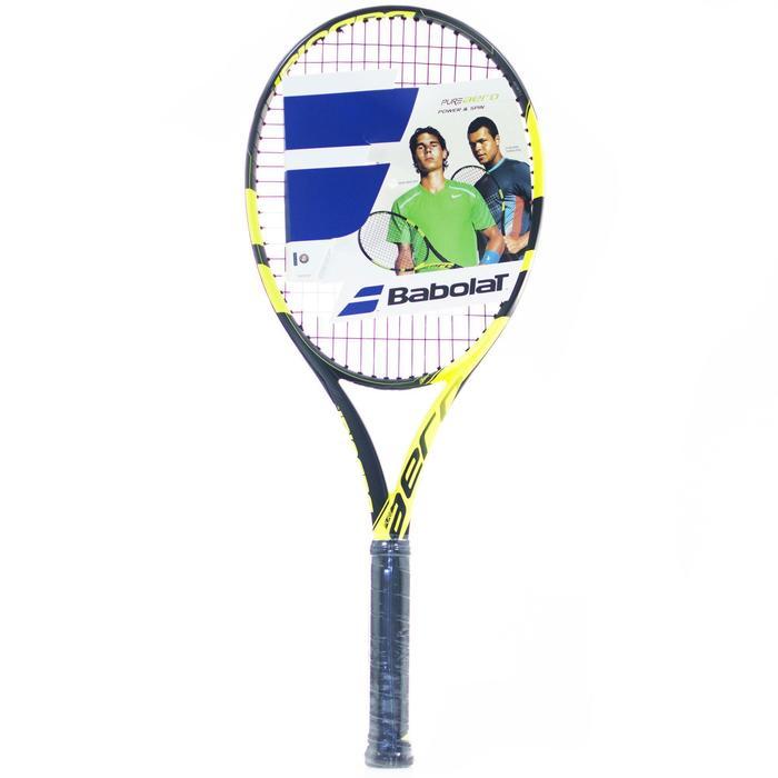 Tennisschläger Pure Aero besaitet Erwachsene gelb/schwarz