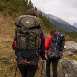 Sac à dos Trekking forclaz 90 litres gris foncé