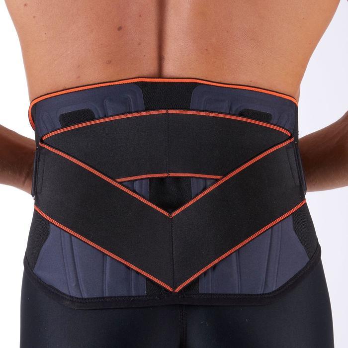 Rugbandage voor heren/dames MID 500 zwart