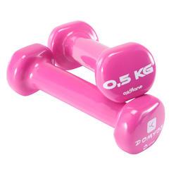 Mancuernas Gimnasia Pilates Domyos 2X0,5KG Rosa