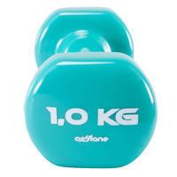 Fitness 1 kg Dumbbells Twin-Pack - Green