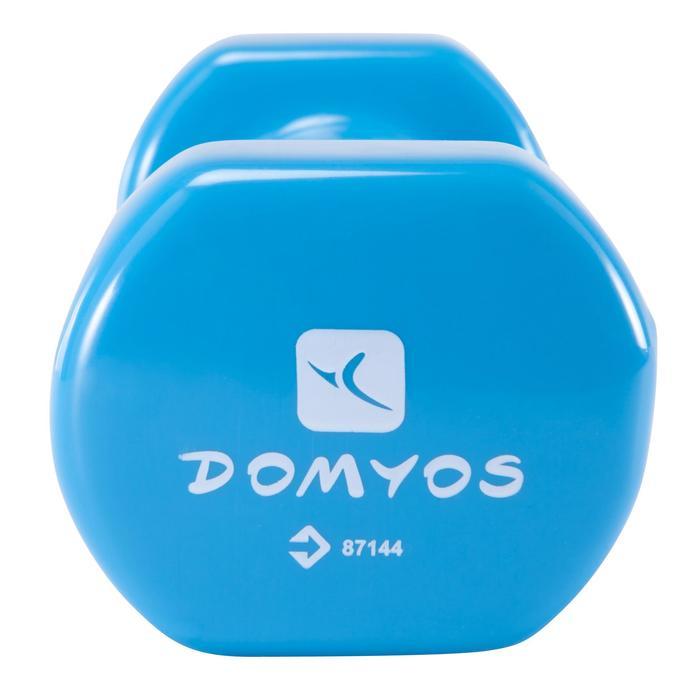 Mancuernas Gimnasia Pilates Domyos 2X,5KG Azul