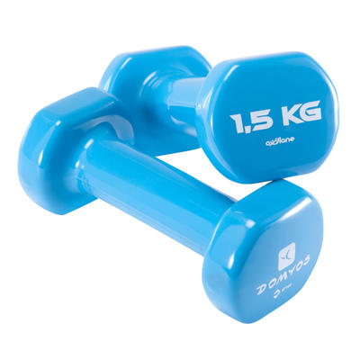 Fitness 1.5 kg Dumbbells Twin-Pack - Burgundy