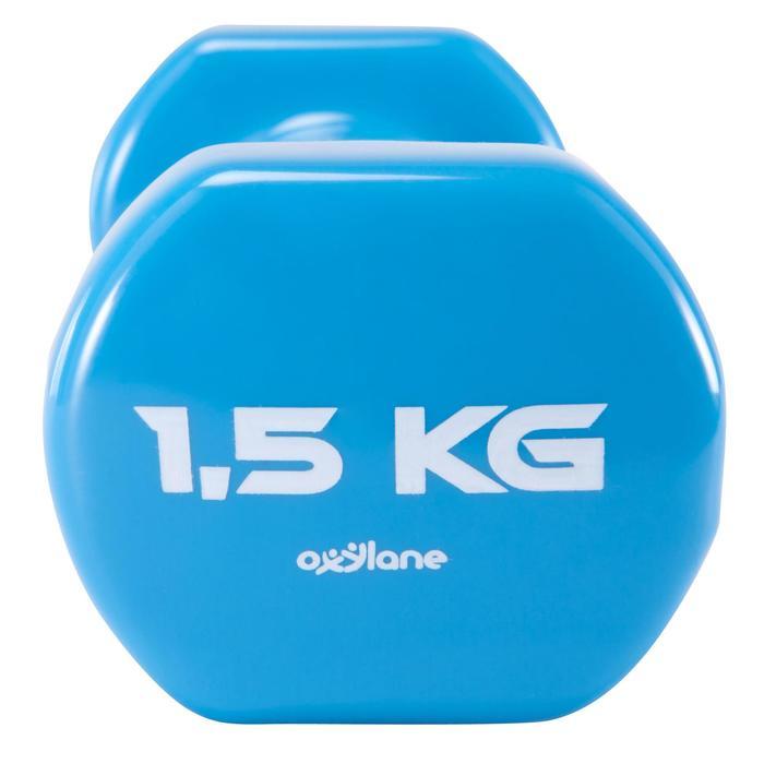 HALTERES TONEDUMBELL 2*1.5 Kg BLEU