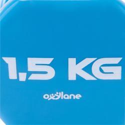 Halters pilates figuurtraining 2 x 1,5 kg