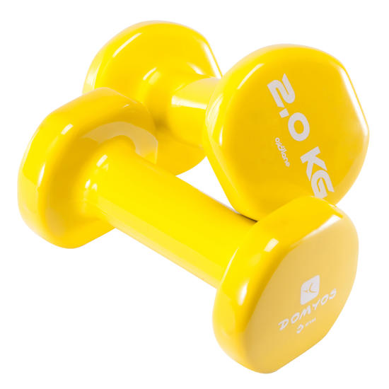Gym halters pvc 2 x 2 kg - 875989