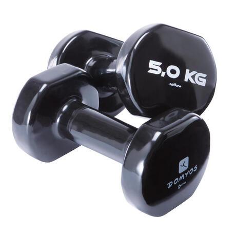 282037422edafb Manubri pvc 2*5 kg | Domyos by Decathlon