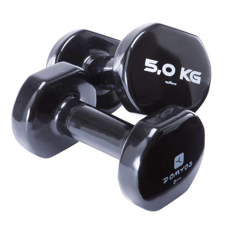 STABILIZACJA WYPOSAŻENIE Fitness, siłownia - Hantle 2x 5 kg NYAMBA - Ćwiczenia ogólnorozwojowe