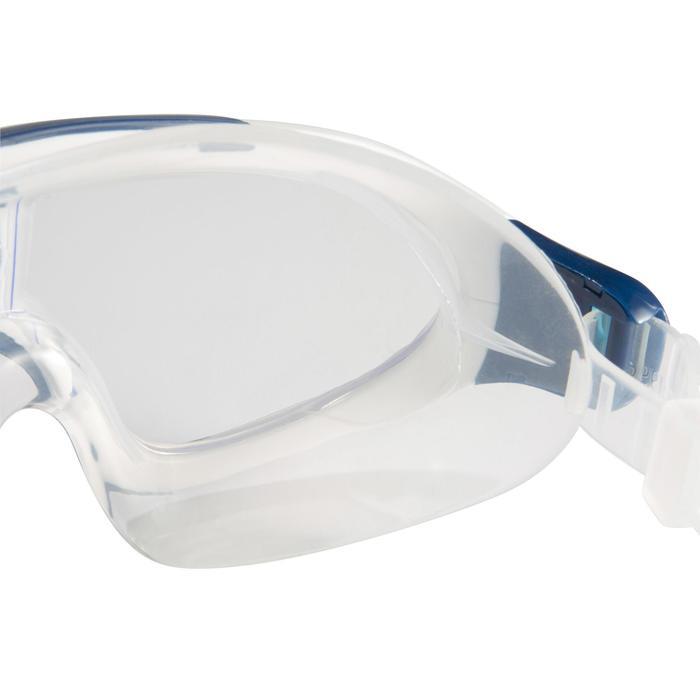 Zwembril Rift transparant maat L blauw wit