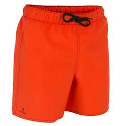 Korte boardshort voor jongens Hendaia Txiki oranje