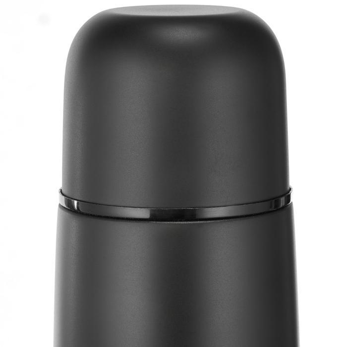Thermosfles voor trekking rvs 0,7 liter zwart