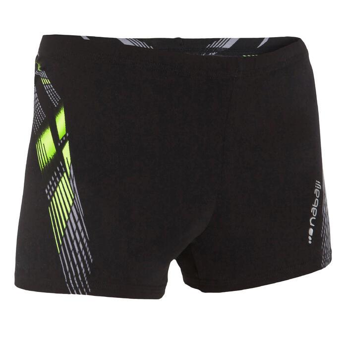 Zwemboxer voor jongens 500 Fit Adibo zwart/geel