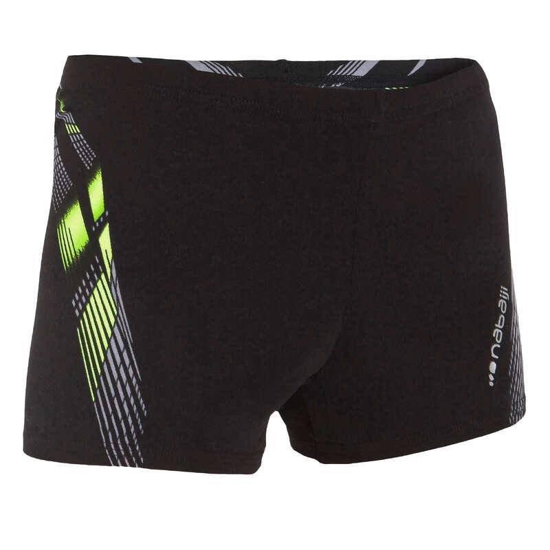 BOY'S SWIMSUITS Swimming - FitBoxerShorts Boy BlackYellow NABAIJI - Swimwear