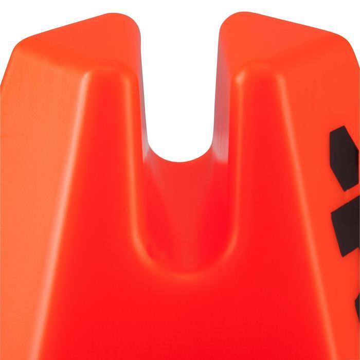 Lot 6 cônes modulables 15 cm jaunes - 878589