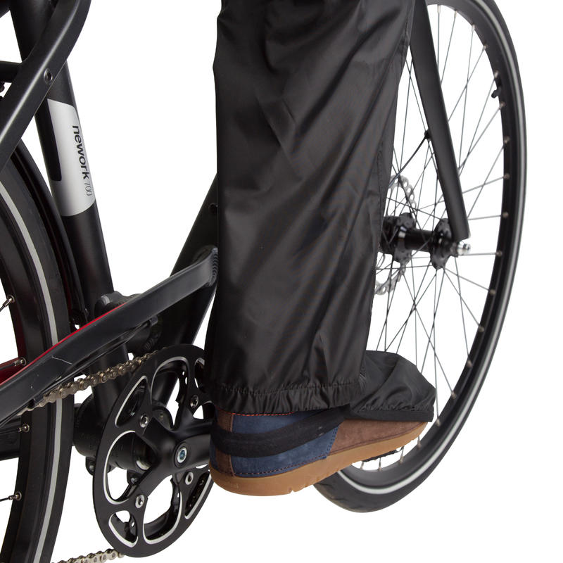 300 City Cycling Rain Overtrousers - Black