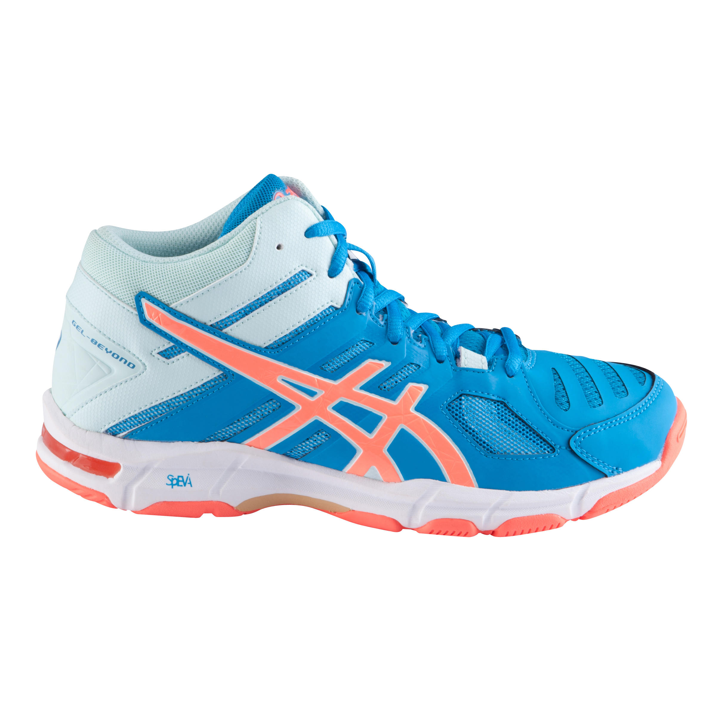 Chaussures de volley ball femme Gel Beyond 5 bleues jewelflash coral