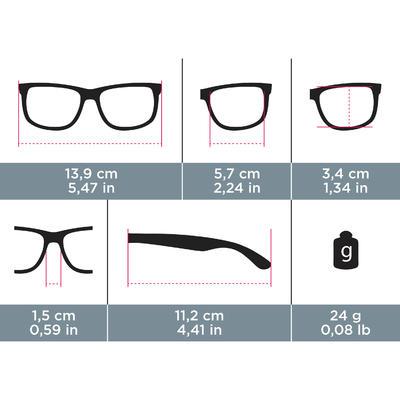 نظارات Hiking 200 للتجول من الفئة 3 - لون أسود