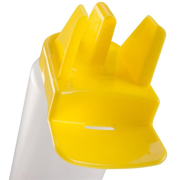 Trinkflasche hygienischer Verschluss 1Liter weiß/gelb