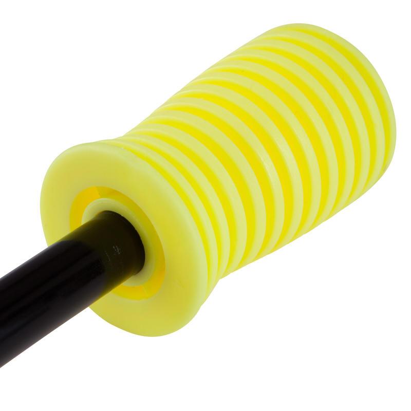 Bombín doble acción amarillo negro