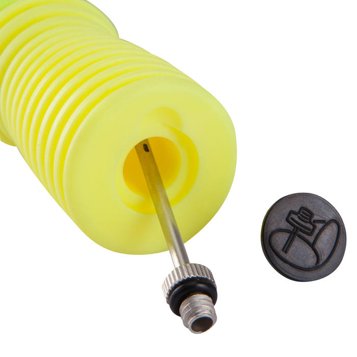 Ballenpomp dubbele actie geel/zw
