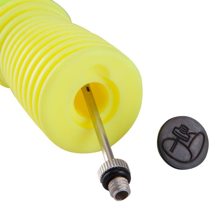Pomp met dubbele werking geel/zwart