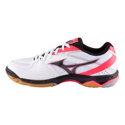 Volleybalschoenen Wave Hurricane 2 voor dames wit en roze - 879116