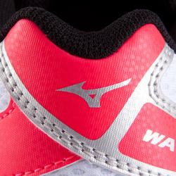 Volleybalschoenen Wave Hurricane 2 voor dames wit en roze - 879128