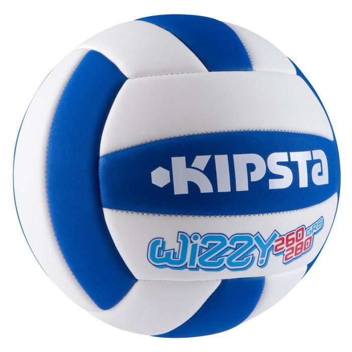 Ballon de volley-ball Wizzy 260-280g blanc et bleu à partir de 15 ans - 879176