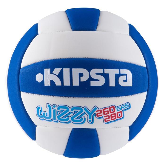 Ballon de volley-ball Wizzy 260-280g blanc et bleu à partir de 15 ans