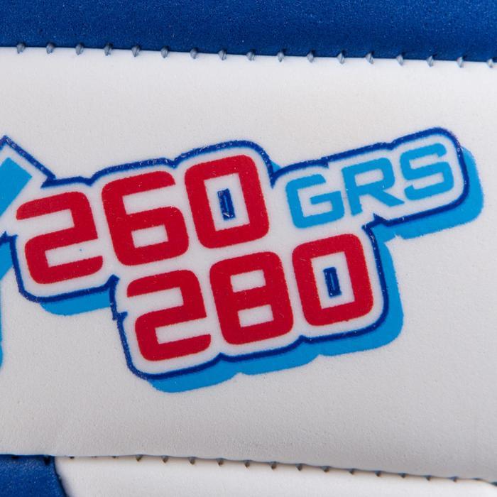 Ballon de volley-ball Wizzy 260-280g blanc et bleu à partir de 15 ans - 879180
