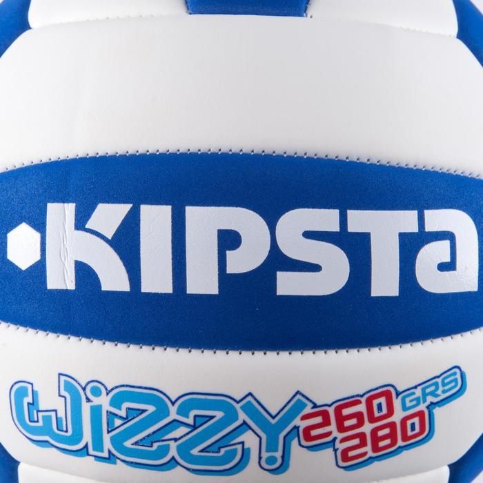 Ballon de volley-ball Wizzy 260-280g blanc et bleu à partir de 15 ans - 879182