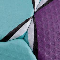 Handbal Solera maat 2 paars lichtblauw wit - 879583