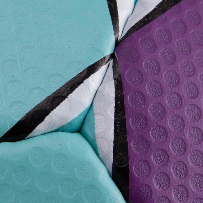 Ballon de handball Solera taille 2 violet bleu clair blanc - 879583