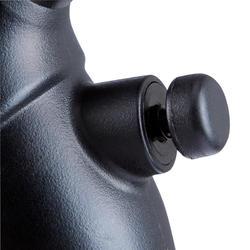 Ballenpomp met drukmeter en dubbele werking zwart