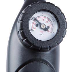 Bomba manómetro doble acción con racor flexible negro