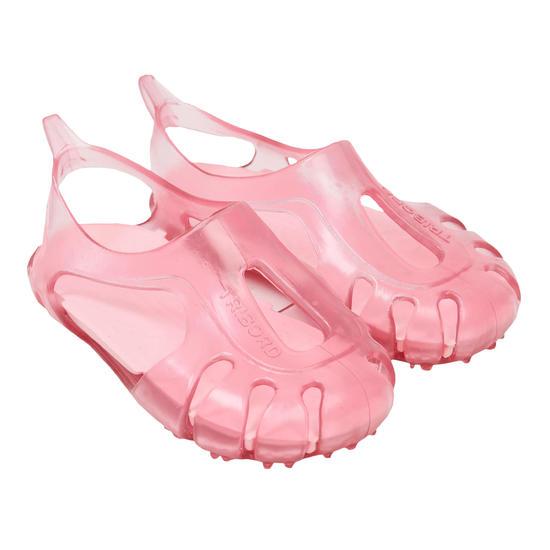 Strandsandalen voor peuters, doorschijnend roze - 879925