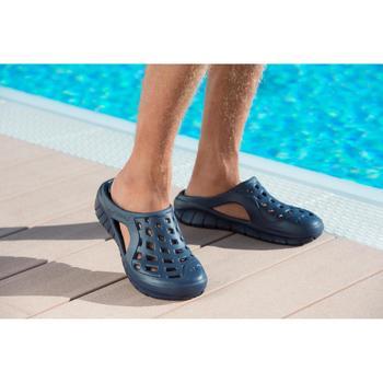 Badslippers heren Clog 100 marineblauw