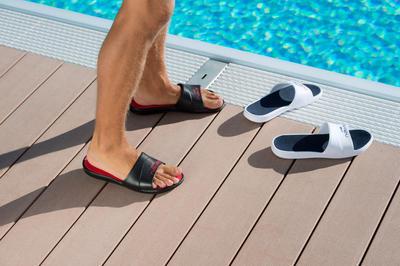 صندل سباحة Metaslap للرجال - أبيض/أزرق