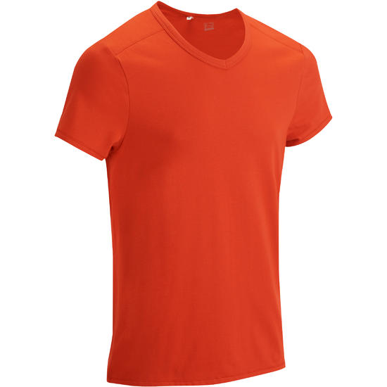 Heren T-shirt voor gym en pilates, slim fit - 879977